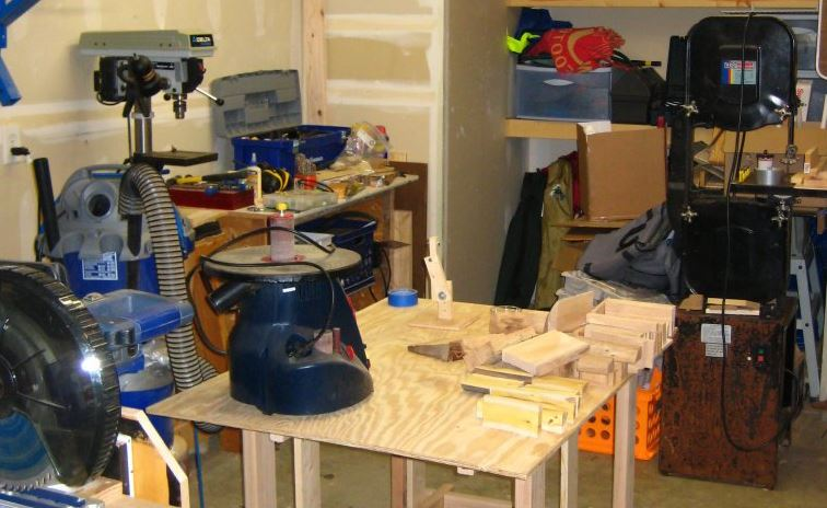 Portable Knock-down Workbench being used in my shop