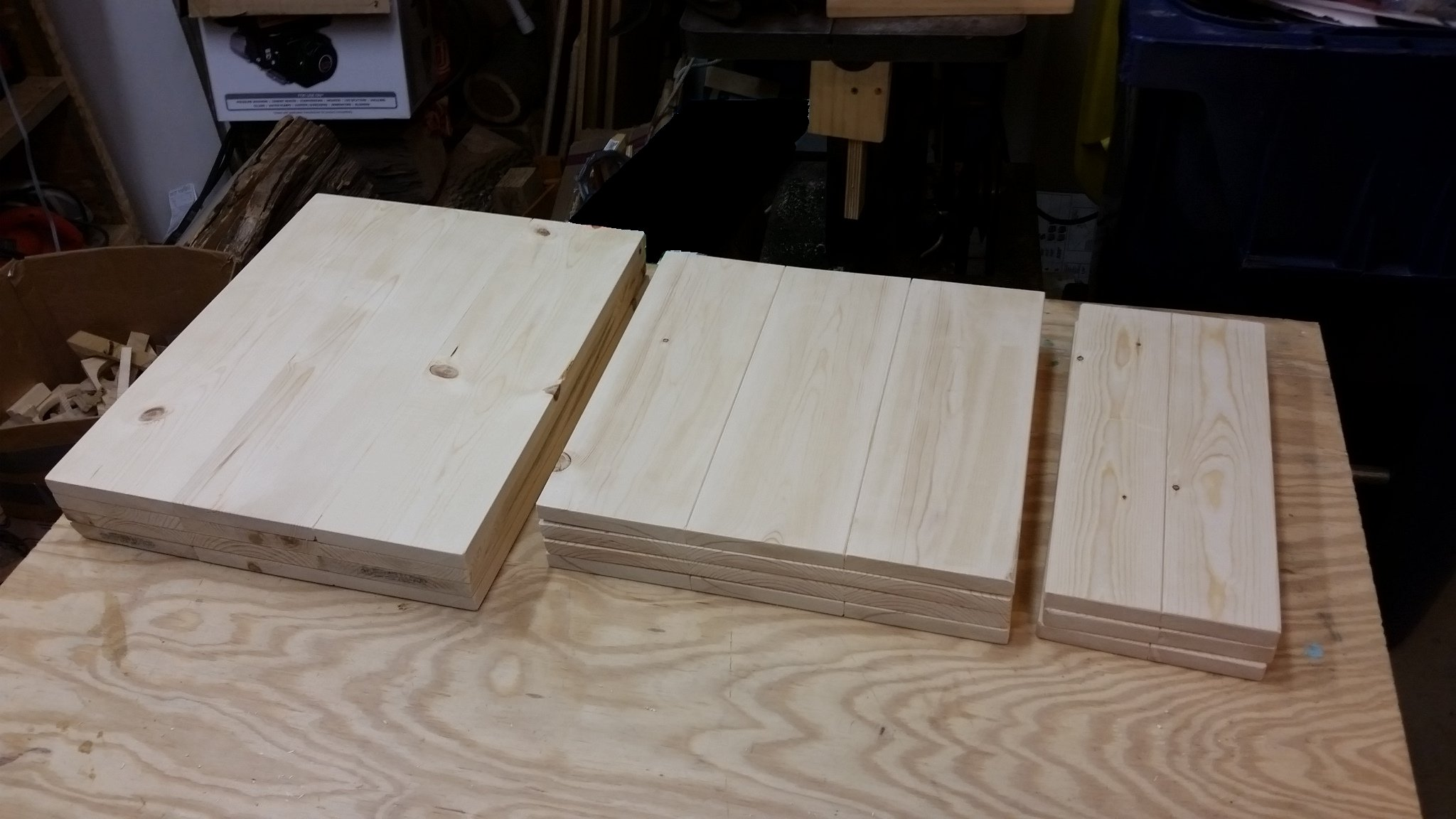 Wooden Sign Boards assembled and ready for stain