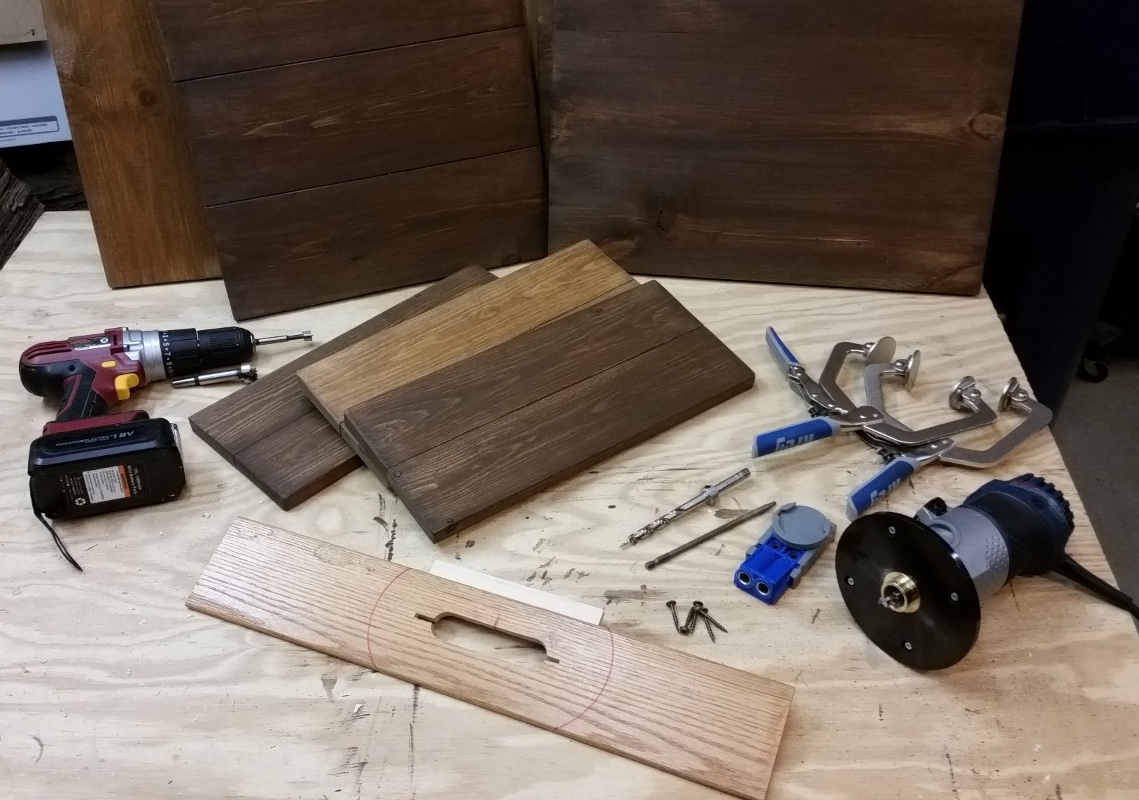 Wooden Sign Boards and tools to make them