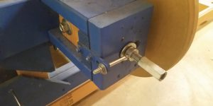 Bandsaw Mill Tension and Tracking Adjustment