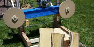 Bandsaw Mill first cuts