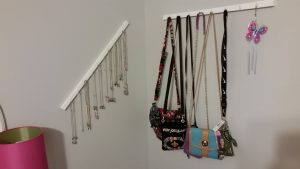 Necklace and Purse Wall Hanger