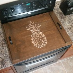 American Walnut Stain with Pineapple carving