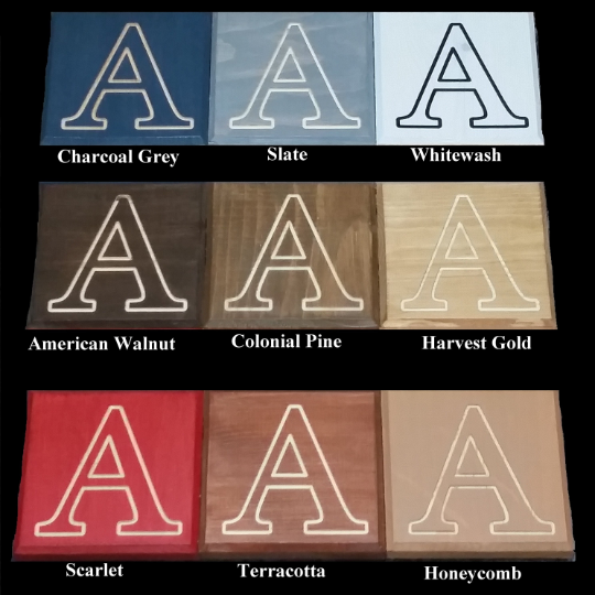 Available Stain Colors