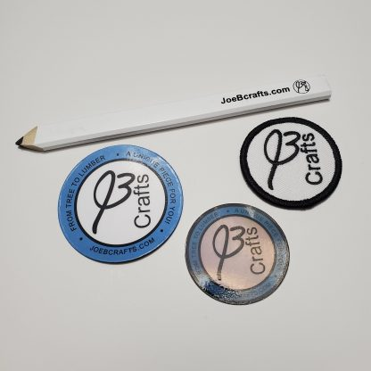 JoeBcrafts Logo pencil, sticker, patch, and magnet